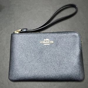 Coach dark navy wristlet